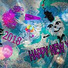 Happy New Years... 2018  To Everyone At Redbubble by SherriOfPalmSprings Sherri Nicholas-