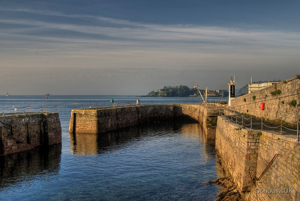 Plymouth Ancient Little Harbour for Fishing Boats by DonDavisUK