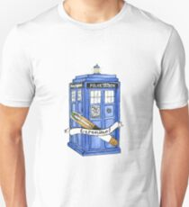 11th Doctor's Tardis, Sonic, and Saying Unisex T-Shirt