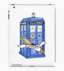 11th Doctor's Tardis, Sonic, and Saying iPad Case/Skin