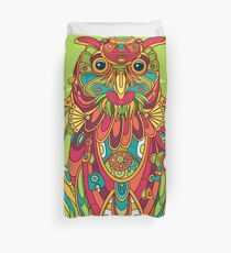 Owl, cool art from the AlphaPod Collection Duvet Cover