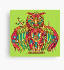 Owl, cool art from the AlphaPod Collection Canvas Print