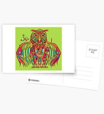 Owl, cool art from the AlphaPod Collection Postcards
