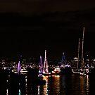 Holiday Boat Parade by Jan  Wall