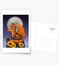 Pumpkin Dragon Postcards