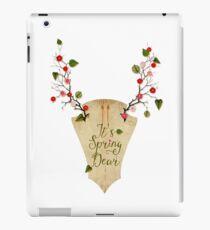 It's Spring Dear iPad Case/Skin