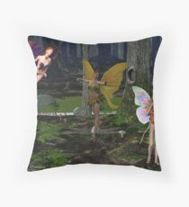 fairy party Throw Pillow