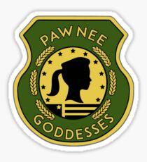 Pawnee Goddess Badge Sticker