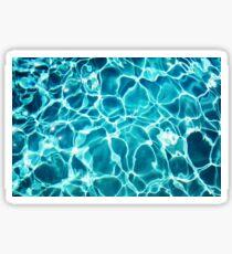 Turquoise Water -  Aqua Blue -  Ripples  Sticker