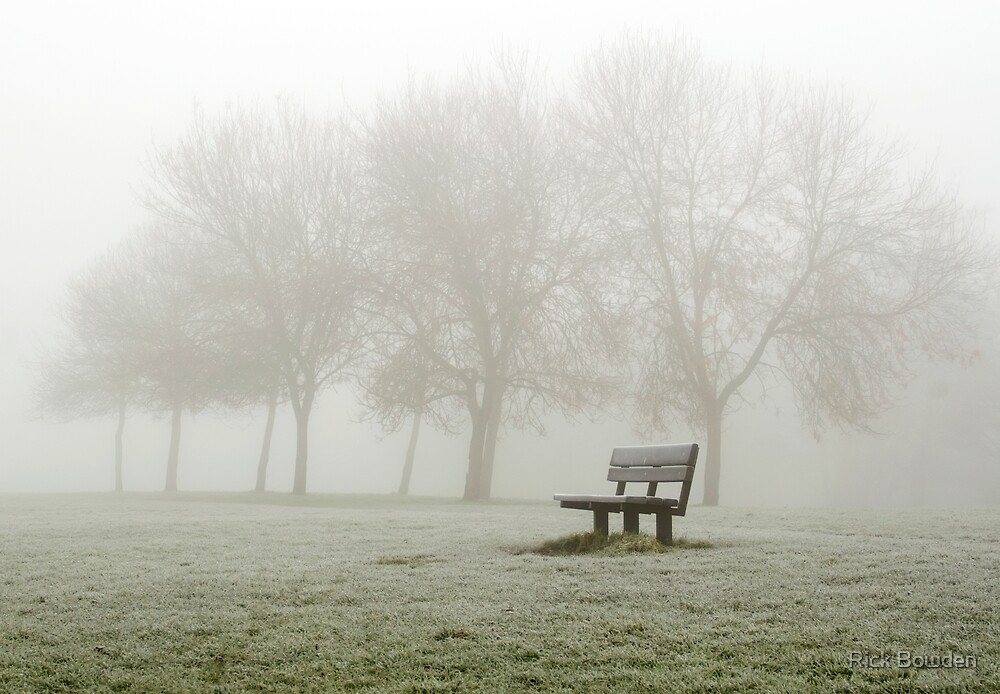 Misty Bench by Rick Bowden
