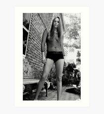Black & White Glamour Implied Nude Art Print