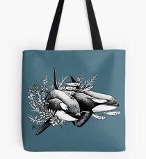 Orcas of Norway Tote Bag
