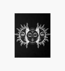 Vintage Sun and Moon Solar Eclipse Art Board Print