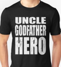 Cool Uncle Funny T Shirts Uncle Godfather Hero T Shirt Baby Shower Gender Reveal Party Unisex T-Shirt