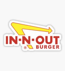 in n out Sticker