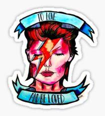 """David Bowie """"To Be Love"""" Watercolor - @k.art.lyn Sticker"""