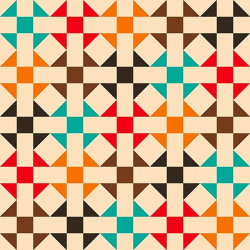 Geometric Pattern: Quilt: Summer by redwolfoz