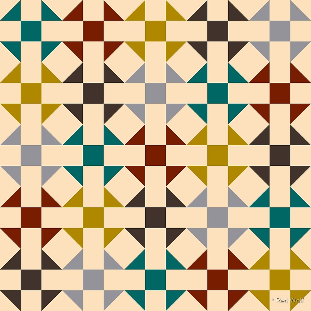 Geometric Pattern: Quilt: Autumn by * Red Wolf