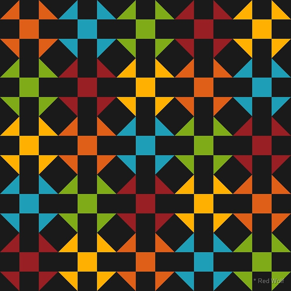 Geometric Pattern: Quilt: Winter by * Red Wolf