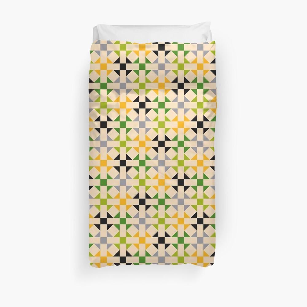 Geometric Pattern: Quilt: Spring Duvet Cover