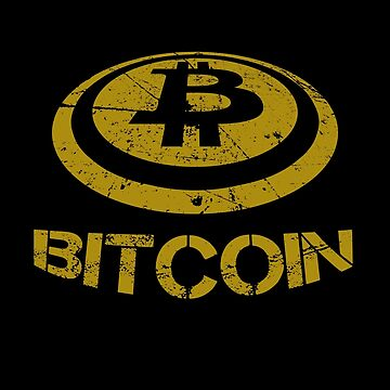 I Love Bitcoin Cryptocurrency by MarkCompton