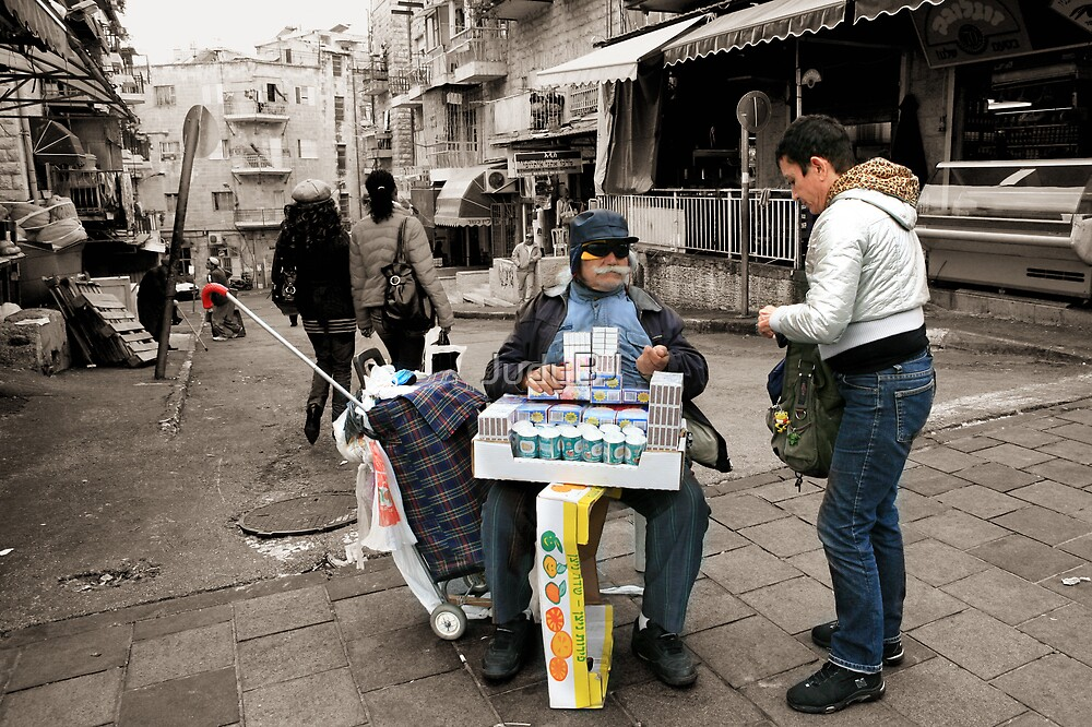 Buy candles from the blind man by JudyBJ