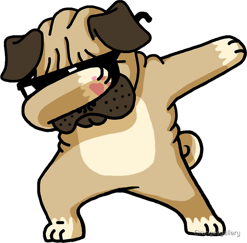 Quot Dabbing Pug Shirt Cute Funny Dog Dab T Shirt Quot Stickers
