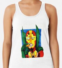 Mister Miracle and His Miraculous Carrot  Racerback Tank Top