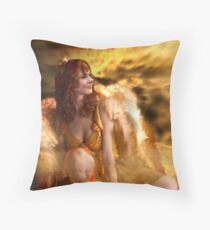 the Golden Angel Throw Pillow