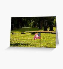 Memorial Flag 1 Greeting Card