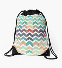 Watercolor Chevron Pattern Drawstring Bag