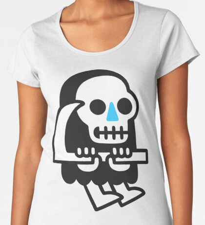 Grim Reaper Guy Premium Scoop T-Shirt