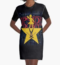 The World Of Upside Down Graphic T-Shirt Dress