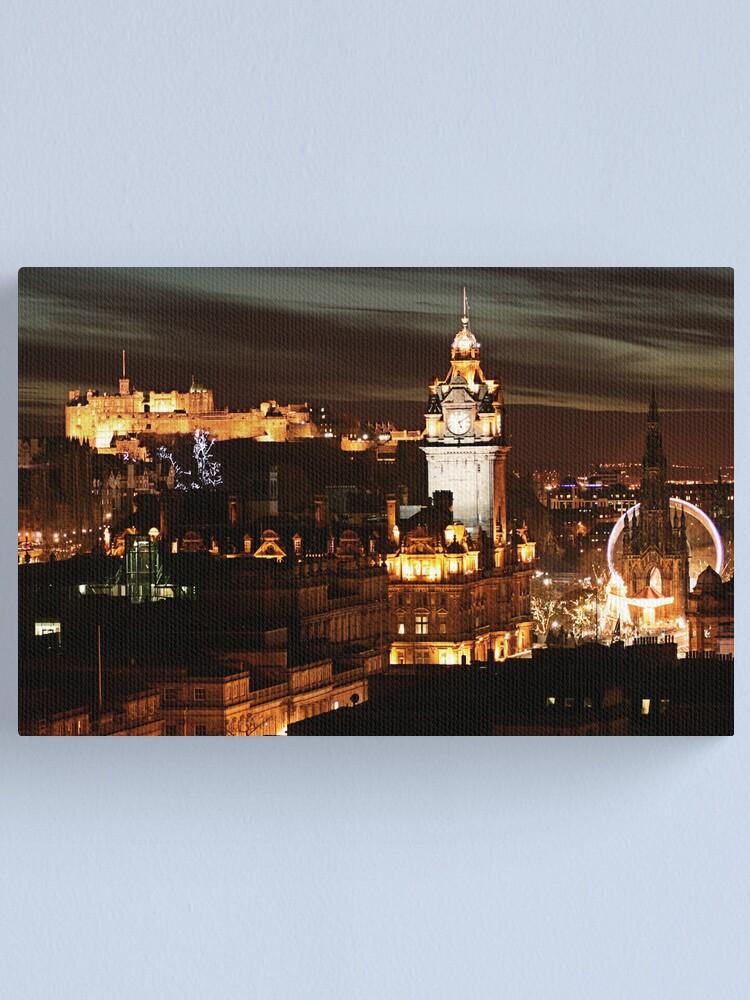 Alternate view of Edinburgh at Night Canvas Print