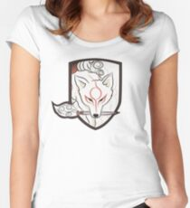 God Hound (without writing) Okami Women's Fitted Scoop T-Shirt