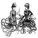 Victorian octopus women chatting by monsterplanet