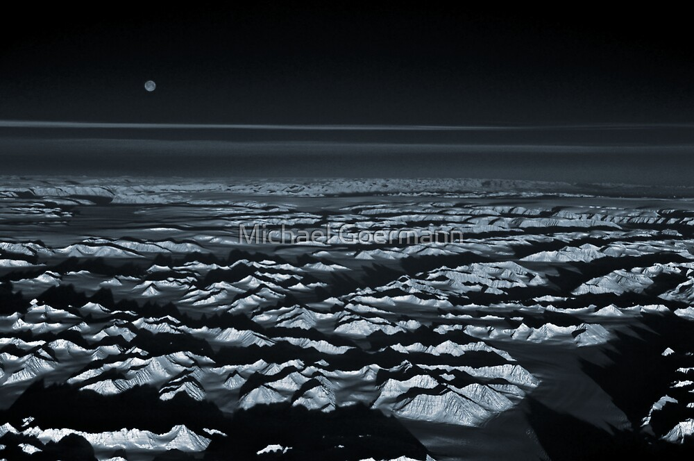 Moon over Greenland by Michael Goermann