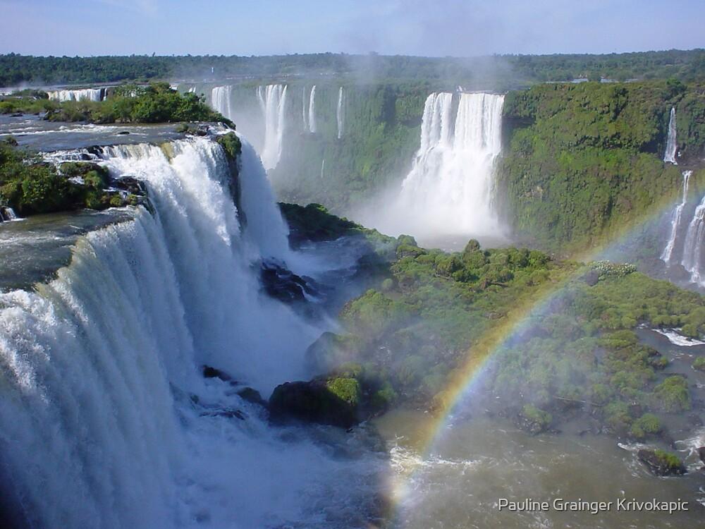 Iguazu falls Brazil by Pauline Grainger Krivokapic