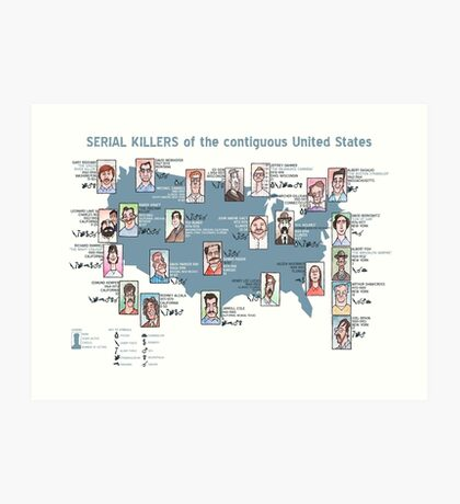 Serial Killers of the USA Art Print