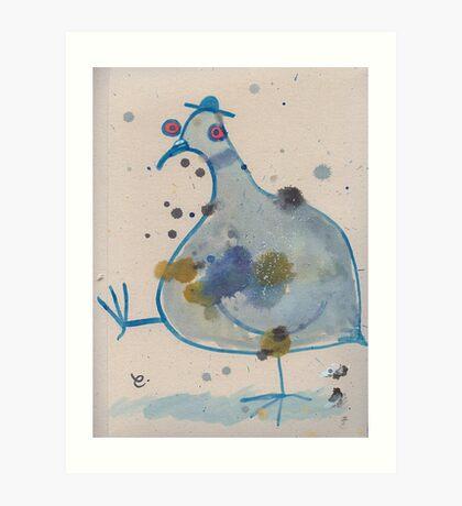 Commuter pigeon Art Print