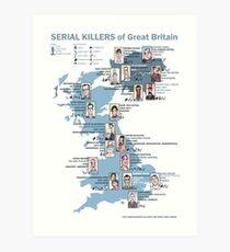 Serial Killers of Great Britain Art Print