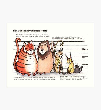 Cat bigness Art Print
