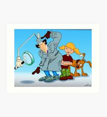 Inspector Gadget Art Print