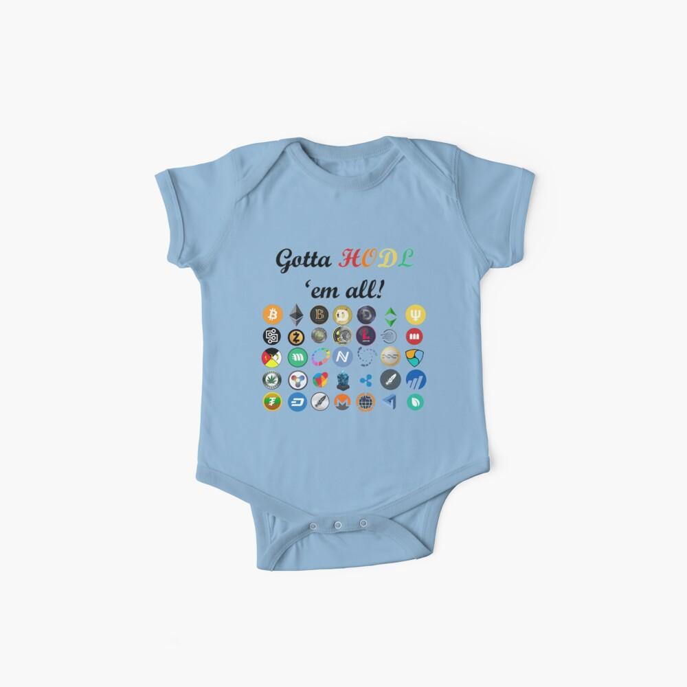Bitcoin T-Shirt Crypto Digital Währung BTC Mining Coins HODL Baby Bodys