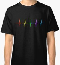 Rainbow Pulse Hearbeat LGBT Classic T-Shirt