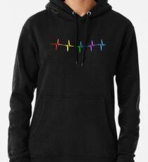 Rainbow Pulse Hearbeat LGBT Pullover Hoodie