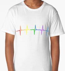 Rainbow Pulse Hearbeat LGBT Long T-Shirt