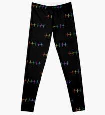 Rainbow Pulse Hearbeat LGBT Leggings