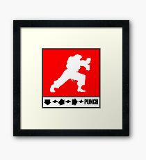 Fighter combo Framed Print
