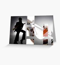 Guitar Rockstar Greeting Card